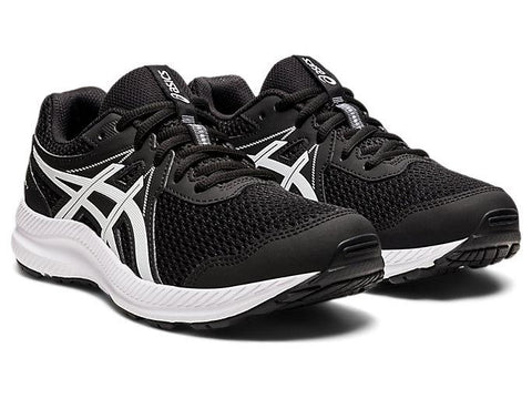 ASICS JUNIOR CONTEND 7 GS BLACK RUNNING SHOES