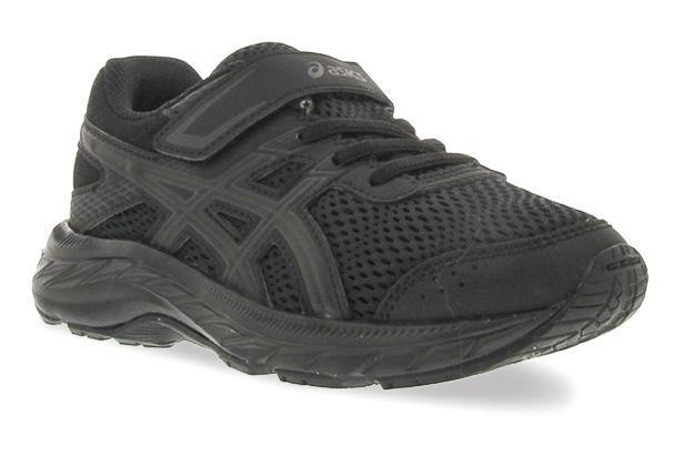 ASICS KID'S CONTEND 6 PS TRIPLE BLACK RUNNING SHOES