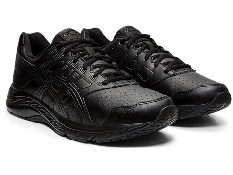 5 TRIPLE BLACK LEATHER RUNNING SHOES