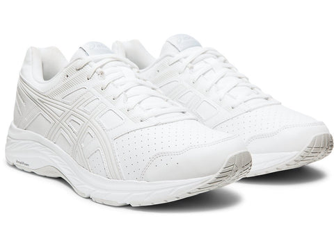 ASICS MEN'S GEL-CONTEND 5 SYNTHETIC LEATHER WHITE TRAINING SHOES