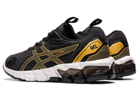 ASICS TODDLER'S GEL-QUANTUM 90 BLACK GOLD RUNNING SHOES