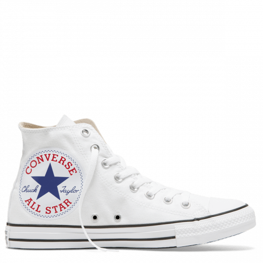 CONVERSE CHUCK TAYLOR MEN'S ALL STAR OVERSIZED LOGO HIGH TOP WHITE SHOES