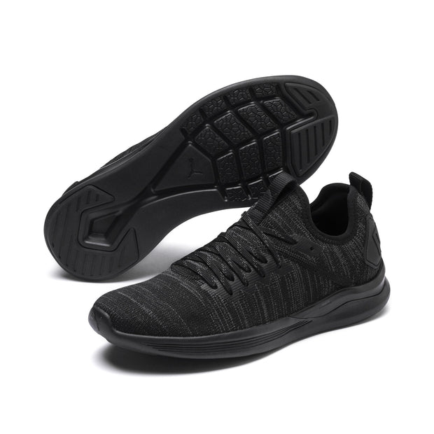 PUMA WOMEN'S IGNITE FLASH EVOKNIT BLACK RUNNING SHOES