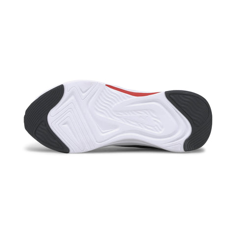 PUMA JUNIOR SOFTRIDE RIFT BLACK/RED RUNNING SHOES
