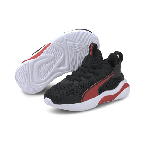 PUMA INFANT'S RIFT BLACK/RED SHOES