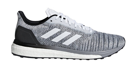 ADIDAS MEN'S RUNNING SOLAR DRIVE BLACK/WHITE SHOES - INSPORT