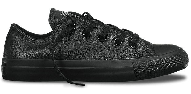 CONVERSE CHUCK TAYLOR ALL STAR LEATHER LOW TOP BLACK - INSPORT
