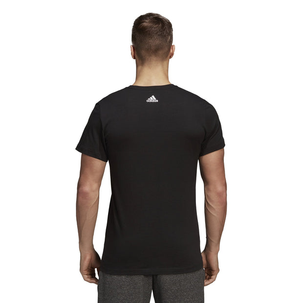 ADIDAS MEN'S THREE STRIPES BLACK TEE - INSPORT