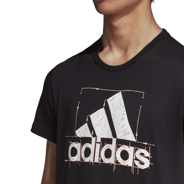 ADIDAS MEN'S BADGE OF SPORT BLACK TEE - INSPORT