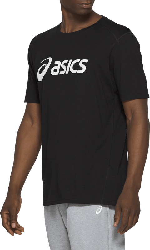 ASICS MEN'S TRIBLEND TRAINING BLACK TEE