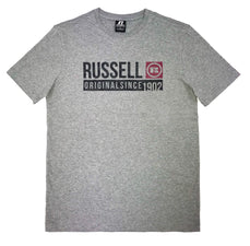RUSSELL ATHLETICS MEN'S SPORTS GREY TEE