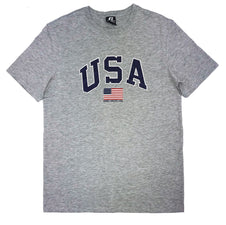RUSSELL ATHLETICS MEN'S USA GREY TEE