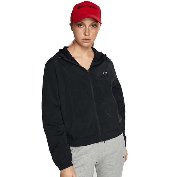 CHAMPION WOMEN'S C ATHLETIC FULL ZIP BLACK JACKET