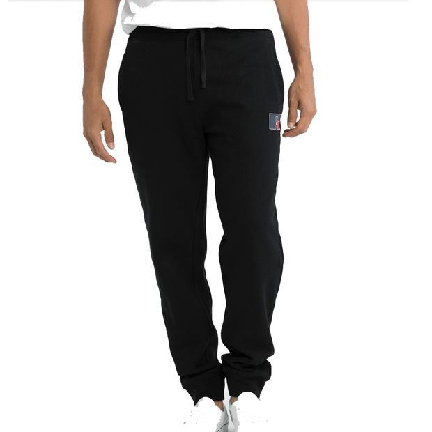RUSSELL ATHLETIC MEN'S LOGO BLACK TRACKPANTS