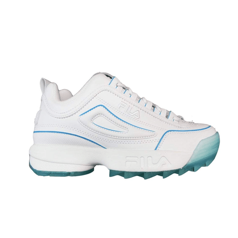 FILA WOMEN'S DISRUPTOR ICE WHITE BLUE SHOES