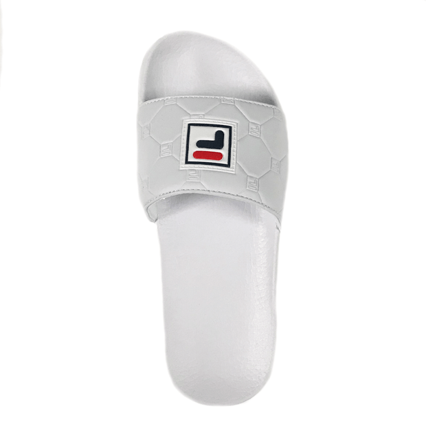 FILA WOMEN'S BOX WHITE SLIDES