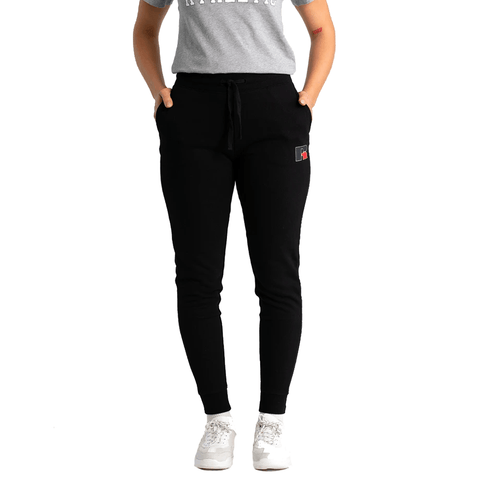 RUSSELL ATHLETIC WOMEN'S RA LOGO BLACK TRACKPANTS