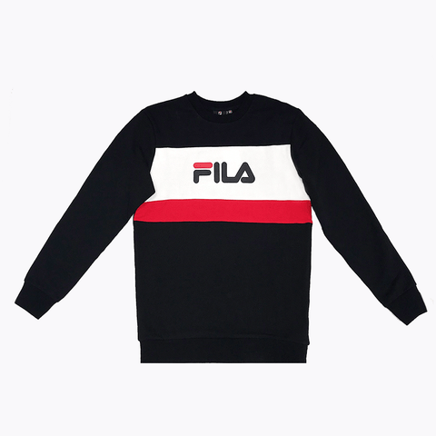 FILA MEN'S RICARDO BLACK CREW SWEATSHIRT