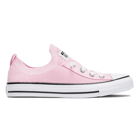 CONVERSE WOMEN'S CHUCK TAYLOR ALL STAR SHORELINE KNIT LOW TOP PINK SHOES