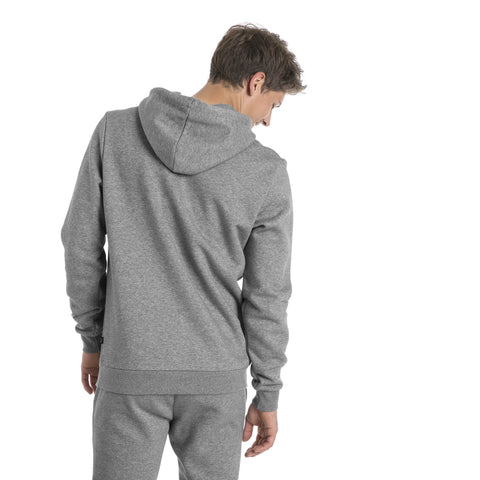 PUMA MEN'S ESSENTIALS FLEECE GREY HOODIE