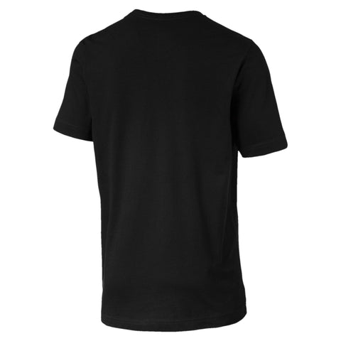 PUMA MEN'S ESSENTIALS SHORT SLEEVE BLACK TEE