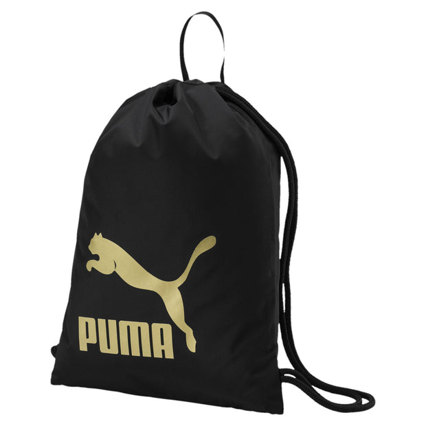 PUMA ORIGINALS BLACK/GOLD GYM SACK