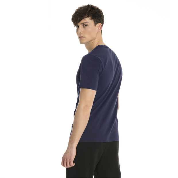 PUMA MEN'S ESSENTIALS NAVY TEE