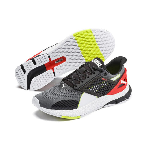 PUMA MEN'S HYBRID NETFIT ASTRO BLACK/RED RUNNING SHOES