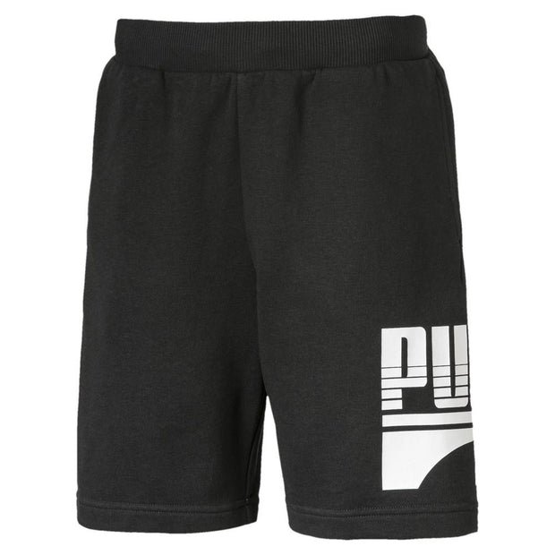 PUMA KID'S REBEL BLACK SWEAT SHORTS