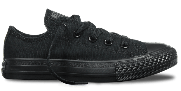CONVERSE JUNIOR ALL STAR BLACK LOW CUT SHOES - INSPORT