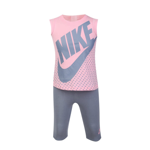 NIKE INFANT'S FUTURA PINK DRESS & LEGGINGS SET