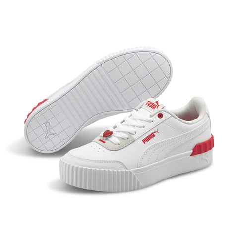 PUMA WOMEN'S CARINA LIFT VALENTINE'S WHITE SHOES