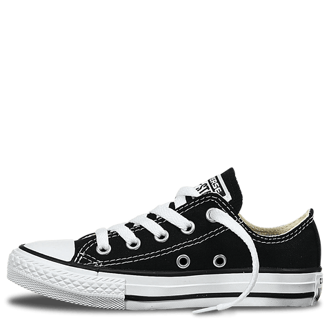CONVERSE JUNIOR BLACK ALL STAR LOW CASUAL SHOES