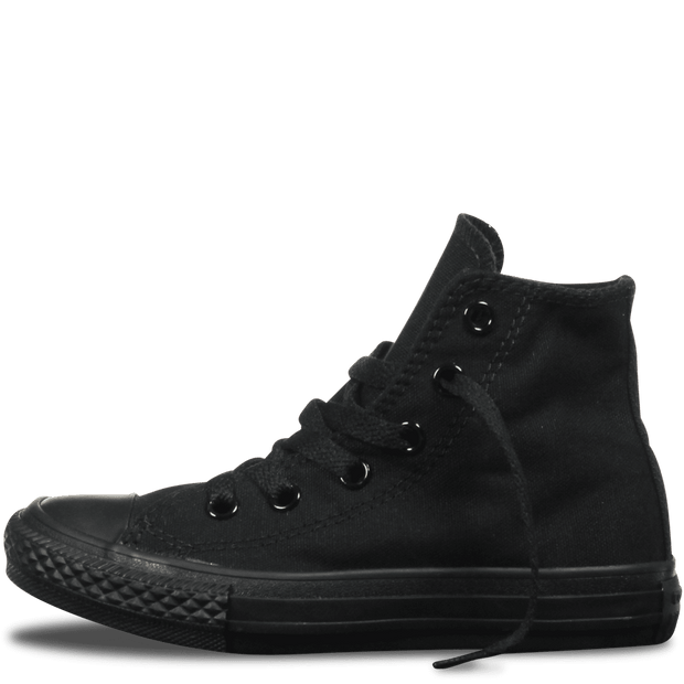 CONVERSE JUNIOR ALL STAR HI TOP TRIPLE BLACK SHOES