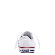 CONVERSE WOMEN'S CHUCK TAYLOR ALL STAR DAINTY CANVAS LOW TOP WHITE SHOES