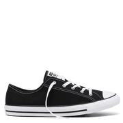 CONVERSE WOMEN'S CHUCK TAYLOR ALL STAR DAINTY CANVAS LOW TOP BLACK SHOES
