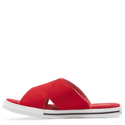 CONVERSE WOMEN'S ONE STAR SLIP ENAMEL RED SLIDES