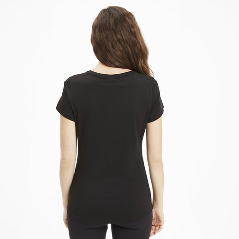 PUMA WOMEN'S ESSENTIALS+ METALLIC BLACK TEE