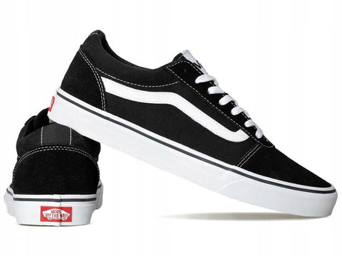 VANS MEN'S WARD LOW BLACK/WHITE SHOES