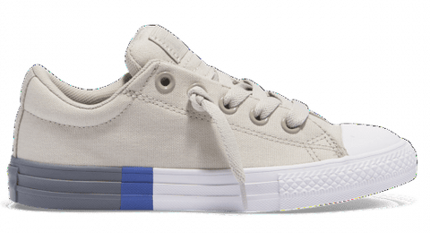 CONVERSE CHUCK TAYLOR JUNIOR STREET TRI BLOCK MIDSOLE LOW TOP PALE GREY - INSPORT