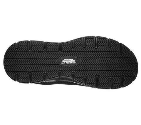 SKECHER'S MEN'S WORK RELAXED FIT®: FLEX ADVANTAGE BENDON SR BLACK SHOES