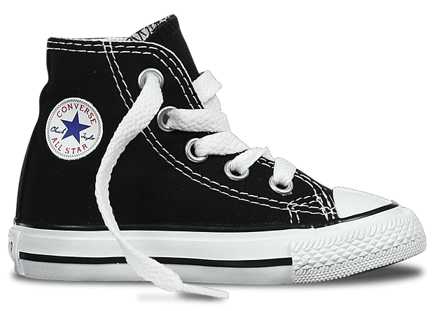 CONVERSE INFANTS ALL STAR HI TOP CASUAL SHOES BLACK - INSPORT