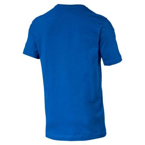 PUMA MEN'S ESSENTIAL LOGO BLUE TEE