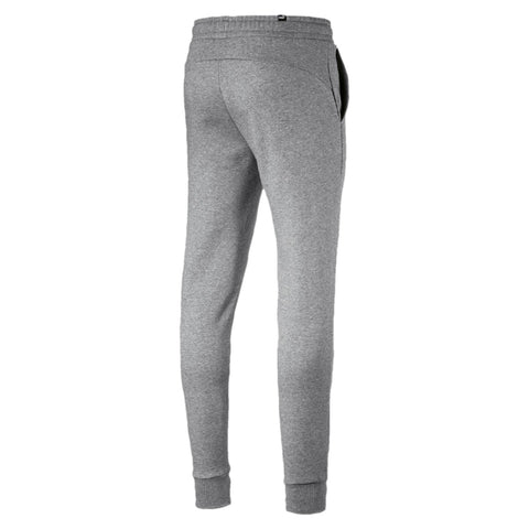 PUMA MEN'S ESSENTIALS FLEECE GREY TRACKPANTS