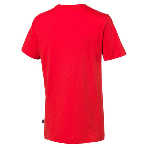 PUMA JUNIOR ESSENTIALS RED TEE