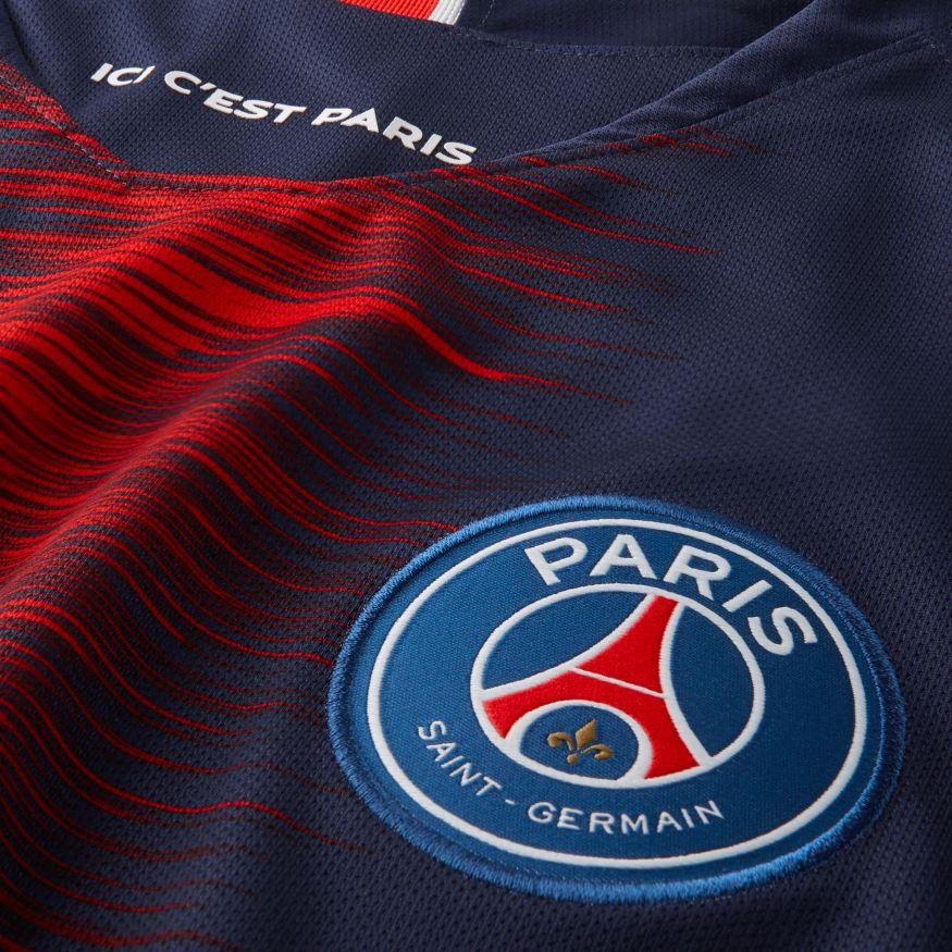 NIKE MEN'S PARIS SAINT-GERMAIN HOME STADIUM SHORT-SLEEVE JERSEY
