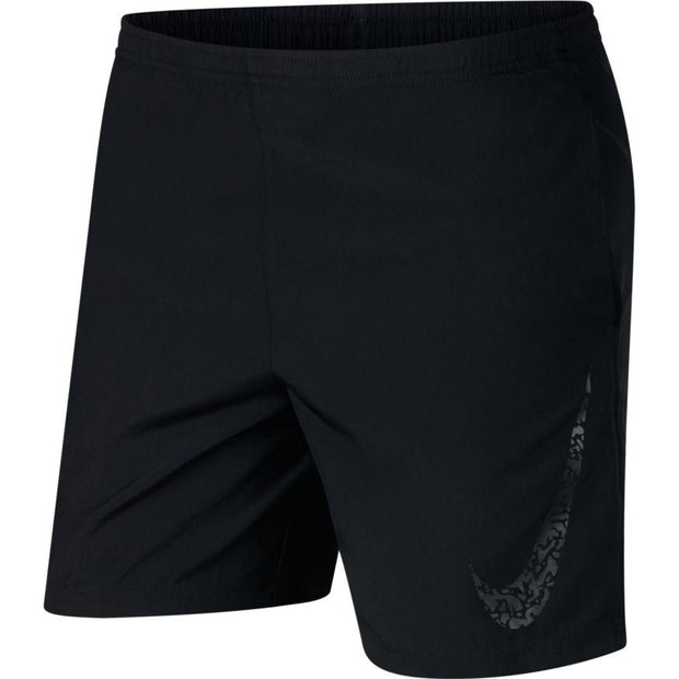 "NIKE MEN'S CORE  7"" BLACK RUNNING SHORTS"