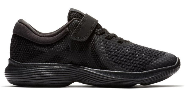 NIKE BOYS' REVOLUTION 4 (PS) PRESCHOOL TRIPLE BLACK SHOE