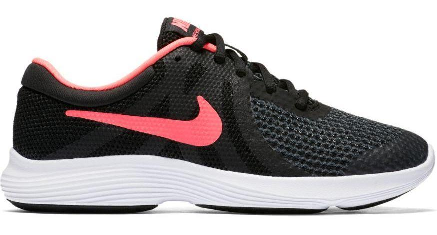 NIKE GIRLS' NIKE REVOLUTION 4 (GS) BLACK RUNNING SHOE