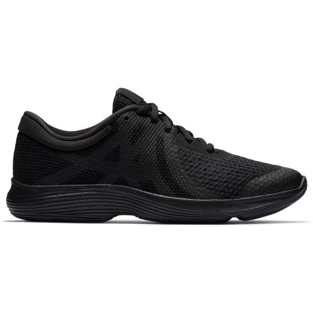 NIKE JUNIOR REVOLUTION 4 TRIPLE BLACK RUNNING SHOE